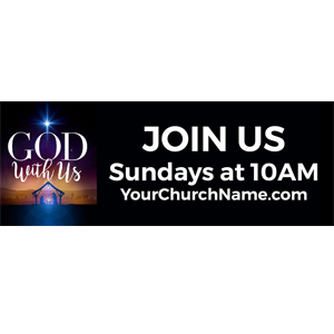 god with us banner
