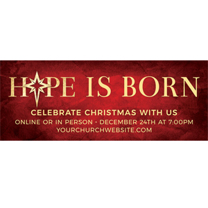 hope is born red banner