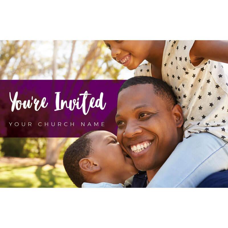 Church Invite Card Family