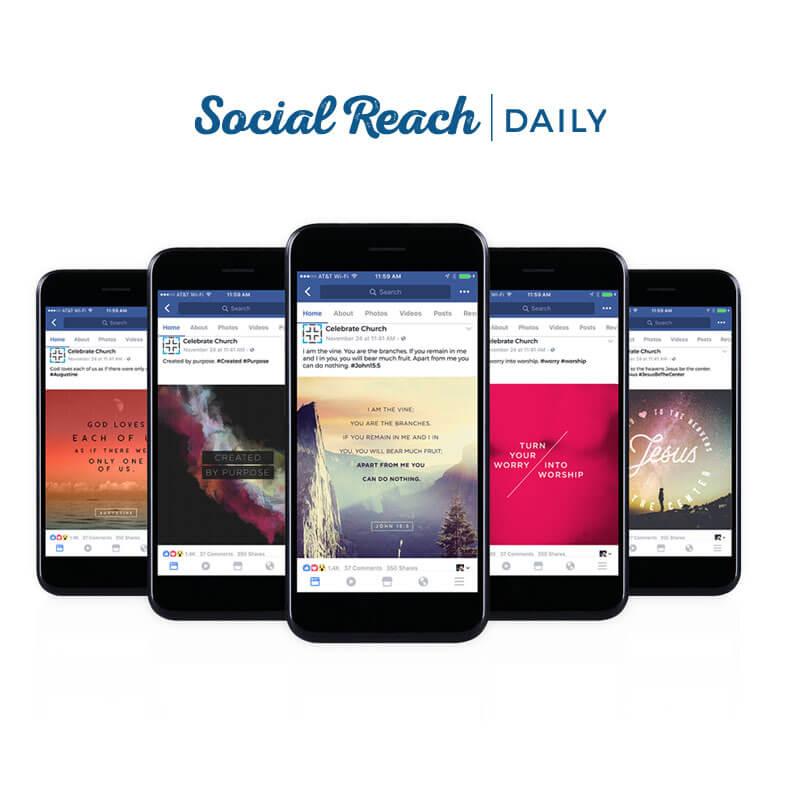 Church Social Media Platform: Social Reach Daily